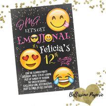 Emoji Invitation Birthday ANY AGE Invitation Personalized Invitation Twe... - £0.40 GBP+