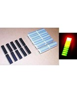 5 pcs LM3914 LED Driver + 5 pcs Tri-Color Fixed LED Bargraph, NEW USA - $10.45