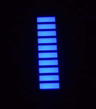 10 pcs AQUA BLUE LED Bargraph Array 10 Segments 120 mcd High Intensity N... - $98.01