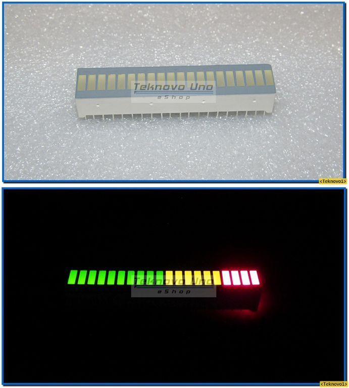 Primary image for 2 pcs TriColor Fixed LED Bargraph Array 20-Segments (for Audio VU Meter) - USA