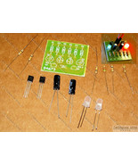 4x KITs Transistor LED Flasher DIY [Basic LED Flash Strobe] w/ LED Light... - $3.95