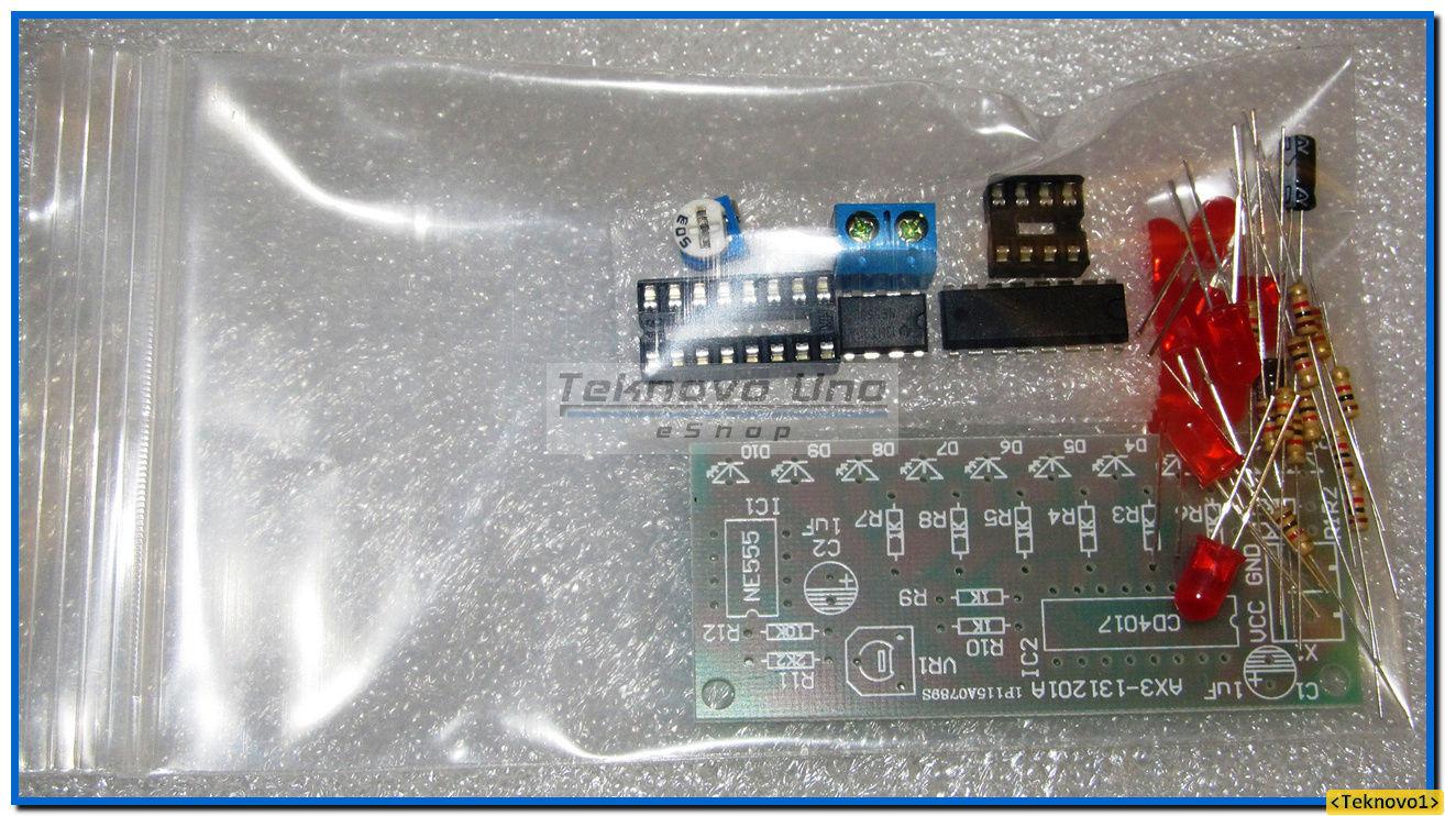 NE555 and CD4017 LED Light Chaser Sequencer Follower Scroller DIY KIT DE