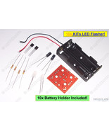 10x LED Flasher KIT DIY [Basic Transistor LED Flash Strobe] w/ LED Light... - $12.82