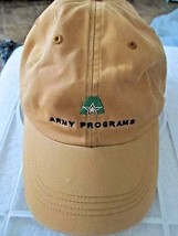 Army Programs United Defense Orange Distressed Adj Baseball Cap! - $12.55
