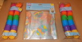 "Easter Treat Eggs 48ea Bright 1 3/4"" & Colored Basket Wrap 2pk 22"" x 25"" 110M - $9.49"