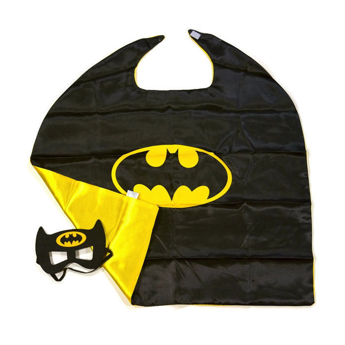Children's Superhero 100 pcs Batman Cape and Mask
