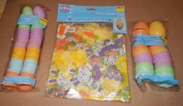 "Easter Treat Eggs 36ea Pastel 1 3/4"" & 2"" Colored Basket Wrap 2pk 22"" x 25"" 110N - $9.49"