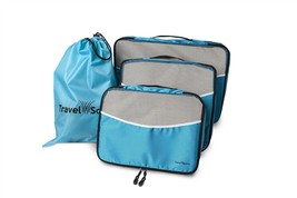 Travel Source Luggage Packing Cubes with Drawstring Laundry Bag (5 Piece... - £6.70 GBP