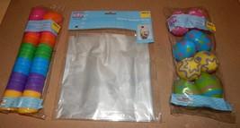 "Easter Treat Eggs 32ea Bright 1 3/4"" & 2"" Colored Basket Wrap 2pk 22"" x 25"" 110O - $9.49"