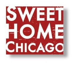 **Wooden Sign Sweet Home Chicago Rustic Wooden Sign Approx sSze 8 x 8 It... - $18.00
