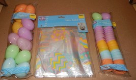 "Easter Treat Eggs 36ea Pastel 1 3/4"" & 2"" Colored Basket Wrap 2pk 22"" x 25"" 110P - $9.49"