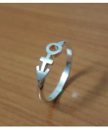 Ring - Love - 1st Symbol - Remembrance Symbol - Sterling Silver - Handmade - $42.00