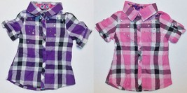One Step Up Toddler Girls Button Up Shirts Purple or Pink Size 2T NWT - $10.49