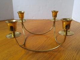 Partylite Brass Quartet 4-Taper Candle Holder Centerpiece Retired - $19.99