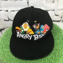 Angry Birds Boys One Sz Hat Black Adjustable Snapback Baseball Cap 100% ... - $14.84