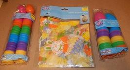 "Easter Treat Eggs 36ea Bright 1 3/4"" & 2"" Colored Basket Wrap 2pk 22"" x ... - $9.49"