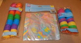 "Easter Treat Eggs 36ea Bright 1 3/4"" & 2"" Colored Basket Wrap 2pk 22"" x 25"" 110R - $9.49"