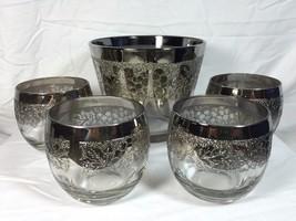 Vitreon Queen's Lusterware Silver Fade Grapes F... - $44.54