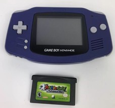 Nintendo Game Boy Advance Console GBA Purple Handheld WORKS With MARIO GOLF - $49.49
