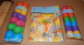 "Easter Treat Eggs 36ea Bright 1 3/4""/ 2.5"" Colored Basket Wrap 2pk 22""x 25"" 110S - $9.49"