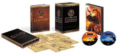 Disney The Lion King (DVD, 2003, 2-Disc Set Gift Box w/Book and Signed Drawings)