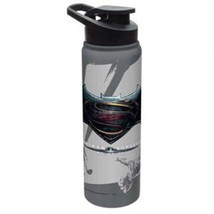 Batman v Superman Dawn of Justice Gray Aluminum Water Bottle, NEW UNUSED - $15.47