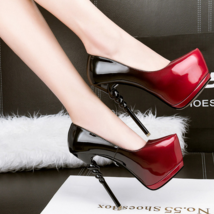 pp274 Stunning high heel pump in spell color, US Size 4-8.5, burgundy - $58.80