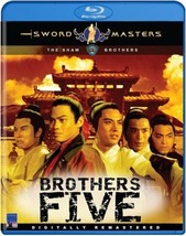 Brothers Five BLU RAY DVD - Shaw Bros Kung Fu Martial Arts Action Classic - $19.99