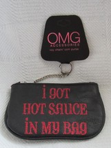 "OMG Accessories Black ""I GOT HOT SAUCE IN MY BAG"" Key Chain /Coin Purse"