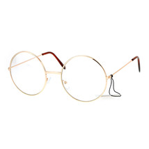 Clear Lens Eyeglasses Unisex Fashion Round Circle Metal Frame UV 400 - $10.95