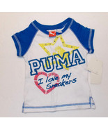 Puma Toddler Girls T-Shirt I Love My Sneakers Size 2T NWT - $11.19