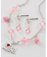Little princess jewelry set pink acrylic beads ... - $10.88