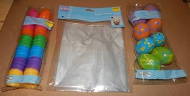 "Easter Treat Eggs 32ea Bright 1 3/4""/ 2"" Clear Basket Wrap 2pk 22""x 25"" 110T - $9.49"