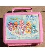 VTG Vintage 1986 Pink Care Bears Collectible Plastic Lunch Box By Aladdin - $49.99