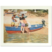 """William Nelson - """"Clam Fisherman"""" Limited Edition Serigraph, Signed - $49.00"""
