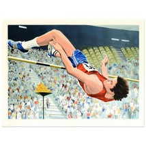 """William Nelson - """"Bruce Jenner's High Jump"""" Limited Edition Serigraph  AP - $59.00"""
