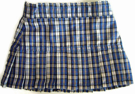 Back-to-School Navy Plaid Skirt W/ Pleats for 1... - $8.70