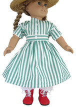 Striped Summer Dress & Boots & Pantaloons for A... - $27.96