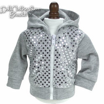 """Silver Sequin Hoodie Hooded Jacket made for 18""""... - $12.40"""