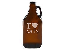 I Love Cats Beer Amber Growler - $39.95