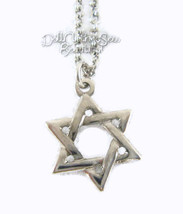 """Silver Star Of David Necklace for 18"""" American ... - $7.71"""