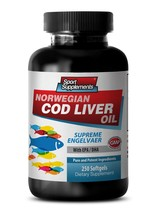 Skin Health Supplements - Norwegian Cod Liver Oil With Vitamins A & D3/EPA & ... - $21.75
