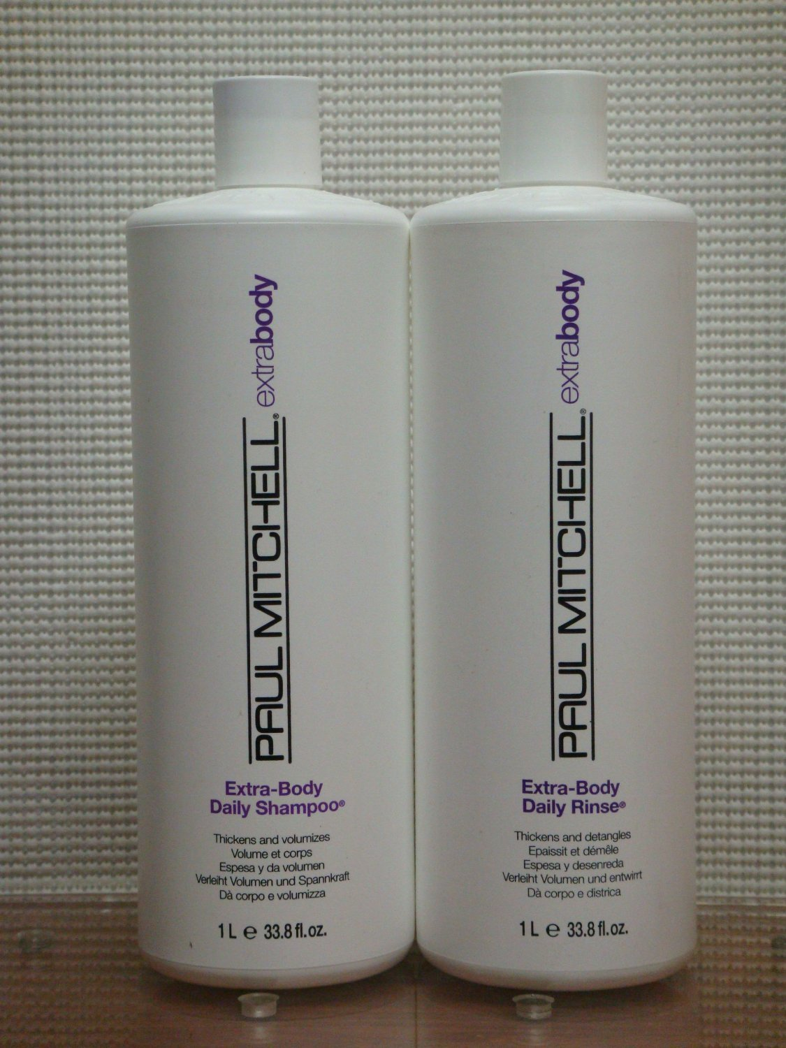 Duo Extra Body Daily Shampoo & Daily Rinse Liter by Paul Mitchell Liter Duo 3...