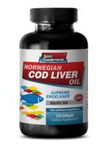 Hair Nail Skin Vitamins - Norwegian Cod Liver Oil With Vitamins A & D3/EPA & ... - $21.75