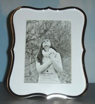 """Kate Spade Lenox CROWN POINT Picture Frame 5X7"""" Silverplate Curved Edges... - $52.90"""