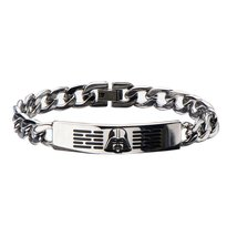 Star Wars Men's Stainless Steel Darth Vader ID Curb Chain Bracelet, 3205A - $32.95