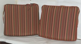 hanamint Sunbrella Dorsett Cherry Outdoor Dining Cushions Set of 2 image 1