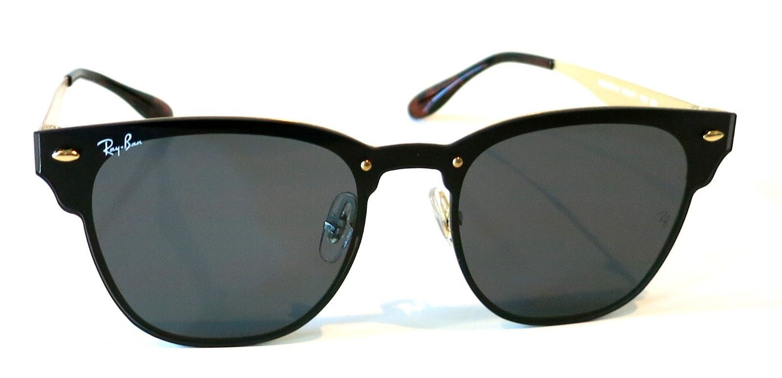 637467f20b S l1600. S l1600. Rayban Blaze Clubmaster Sunglasses RB3576N 043 71 Black  Gold Green Club 3576
