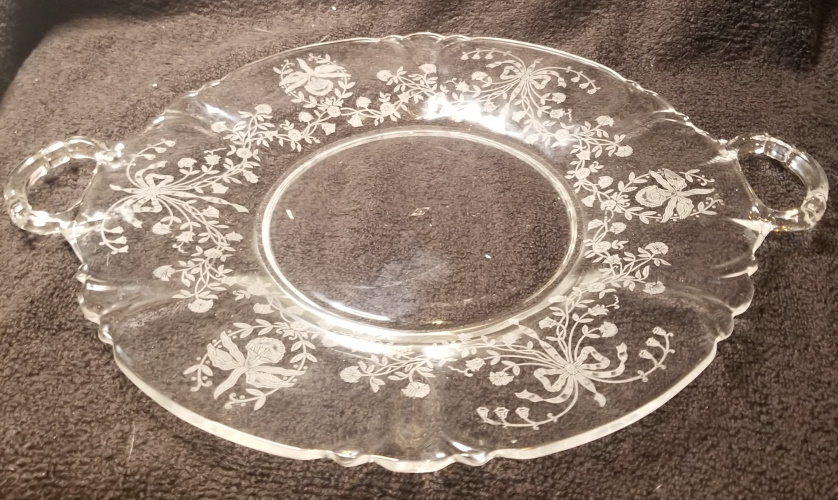 "Primary image for Heisey Orchid 15 1/4"" Torte Platter"