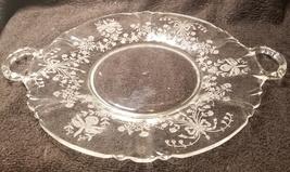 "Heisey Orchid 15 1/4"" Torte Platter - $79.99"
